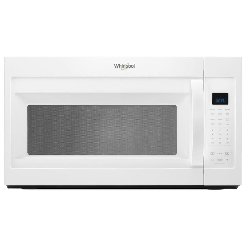 whirlpool over the range microwave 1 9 cu ft white rc willey furniture store