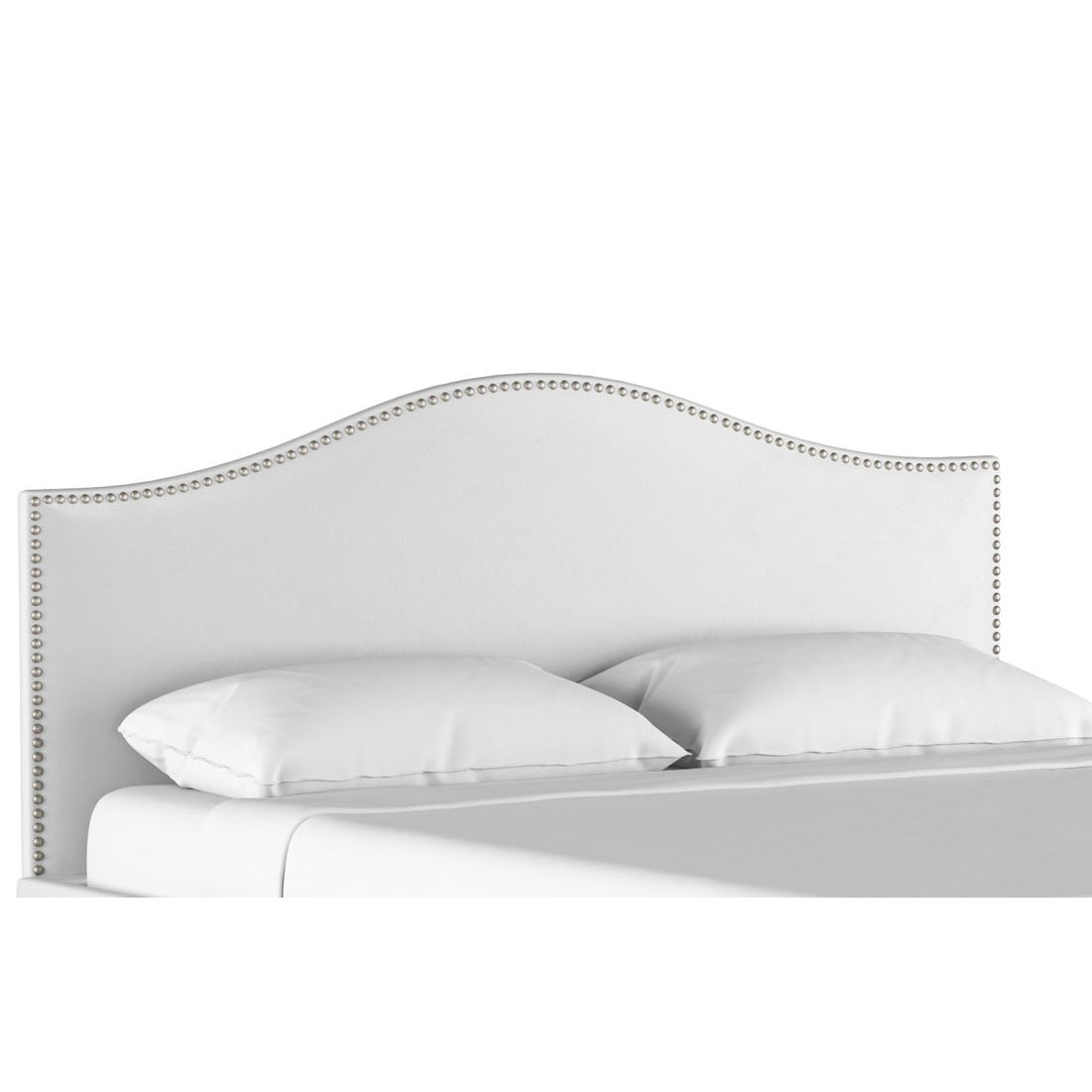 Classic Camelback White Queen Upholstered Headboard Rc Willey Furniture Store