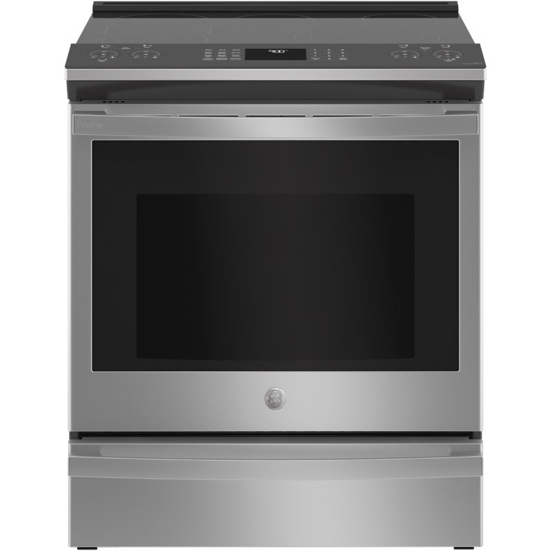 ge profile 30 inch smart convection range 5 3 cu ft fingerprint resistant stainless steel rc willey furniture store