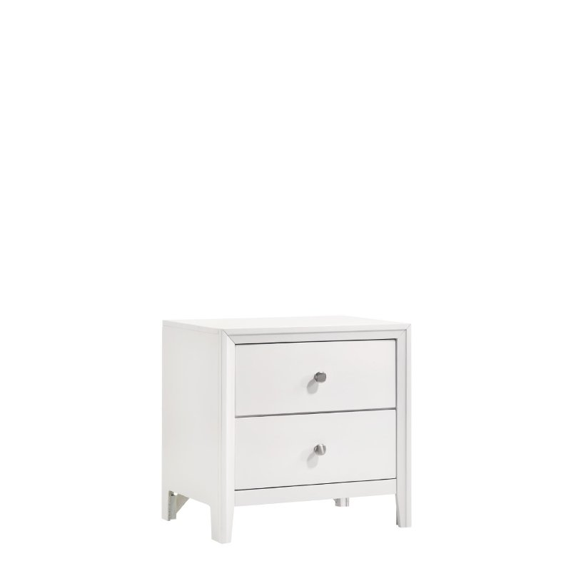 contemporary white nightstand grant rc willey furniture store