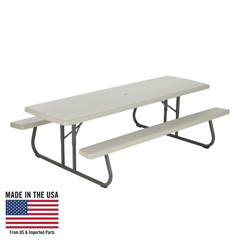 Lifetime 8 Foot Folding Picnic Table Putty RC Willey