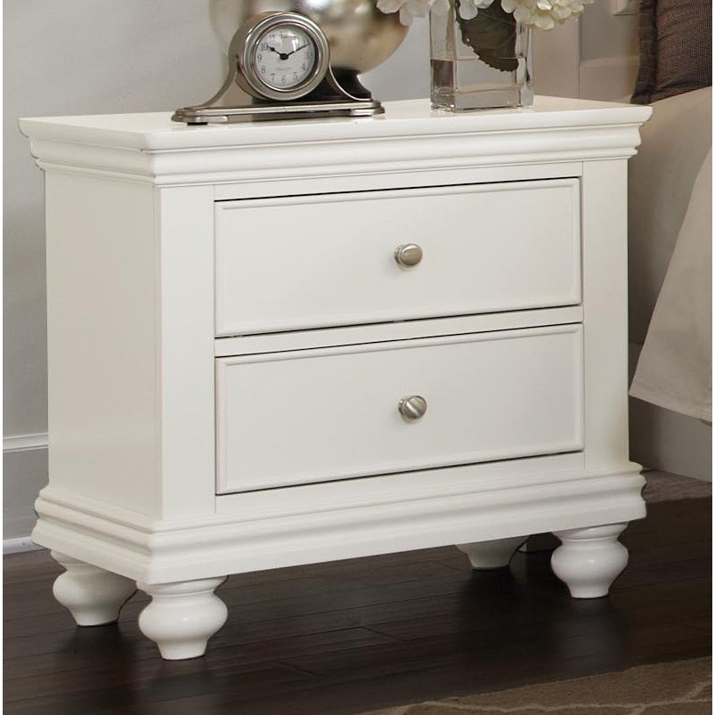 Essex White Nightstand RC Willey Furniture Store