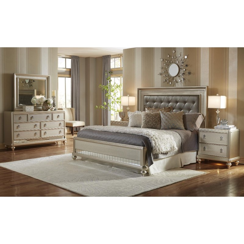 Traditional Champagne 6 Piece King Bedroom Set   Diva   RC Willey     Traditional Champagne 6 Piece King Bedroom Set   Diva   RC Willey Furniture  Store
