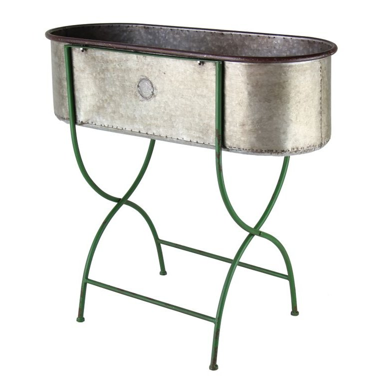 Galvanized Metal Planter Stand RC Willey Furniture Store