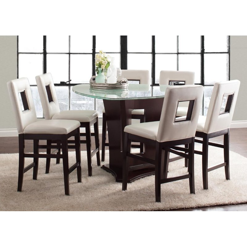 Soho Espresso 7 Piece Counter Height Dining Set