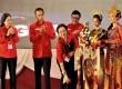 Ketua Umum PDI Perjuangan Megawati Soekarnoputri (ketiga kiri) memukul gong pada pembukaan Rapat Kerja Nasional (Rakernas) IV PDI Perjuangan di Semarang, Jateng, Jumat (19/9).  (Antara/R. Rekotomo)