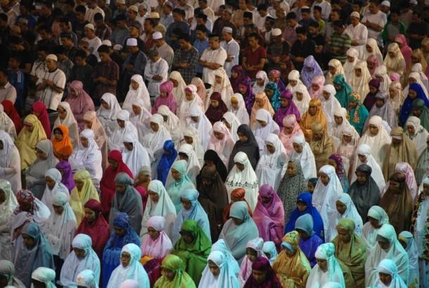 Shalat tarawih di bulan suci Ramadhan