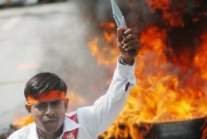 Aksi radikalisme (ilustrasi)