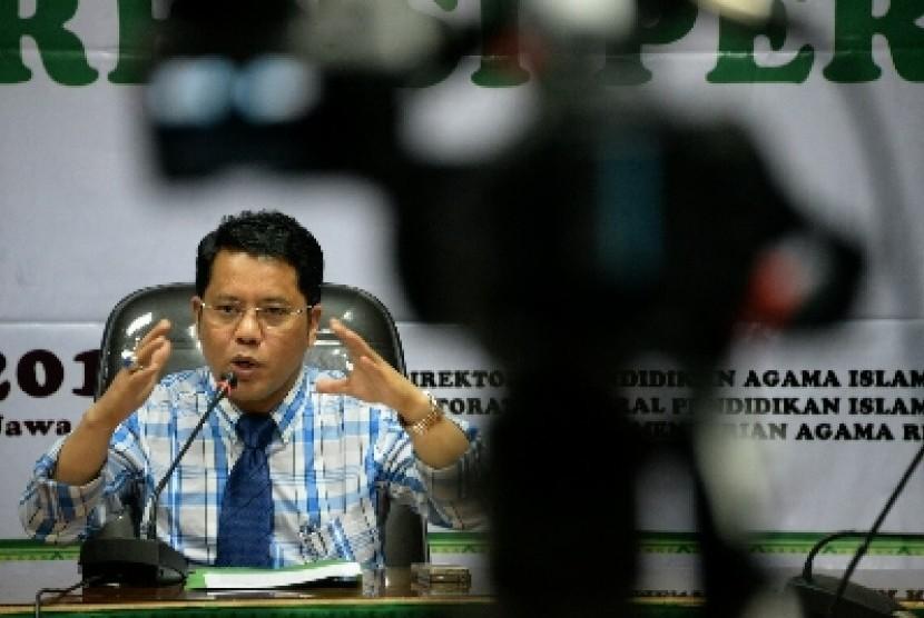 Direktur Jenderal Pendidikan Islam Kemenag Kamaruddin Amin.