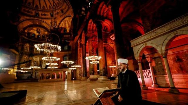 Haga Sofia menjadi masjid kembali.