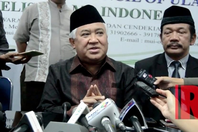 Ketua Dewan Pertimbangan Majelis Ulama Indonesia (MUI), Din Syamsuddin