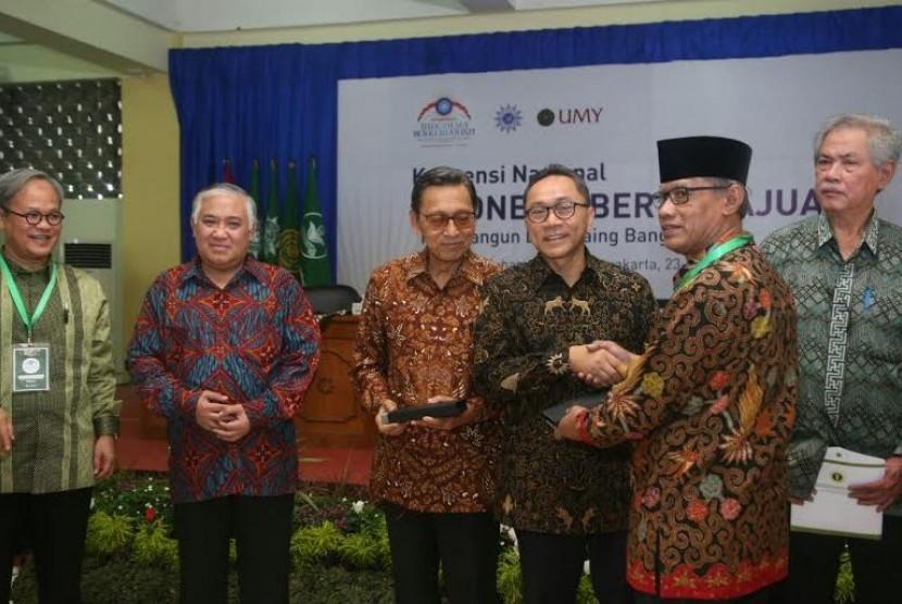 Ketua MPR Zulkifli Hasan alam Konvensi Nasional Indonesia Berkemajuan di Universitas Muhammadiyah Yogyakarta, (23/5).