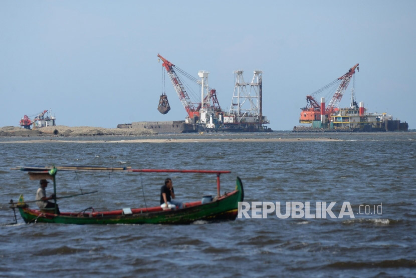 Nelayan dan proyek reklamasi (ilustrasi)