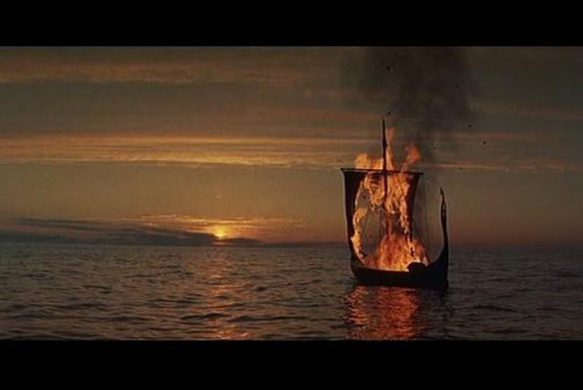Pemakaman Viking (ilustrasi)