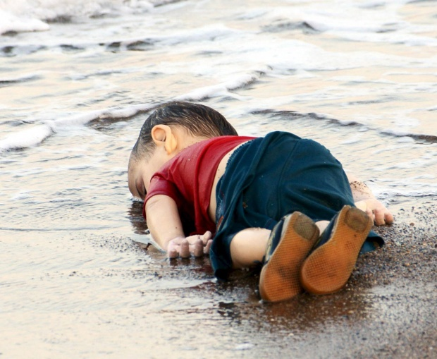 Three-year-old refugee Aylan Kurdi, dead on a Turkish beach