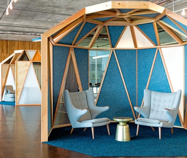 Blue Breakout Spaces In Ciscos San Franscisco Office