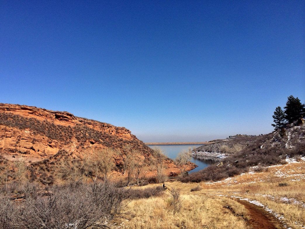 Horsetooth Reservoir is another great spot for trail running or for throwing down a crash pad and bouldering a bit.