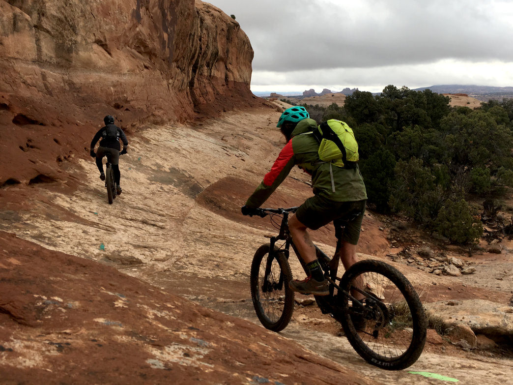 Navajo Rocks can be ridden in either direction, but it's great to have a shuttle to maximize your flow.