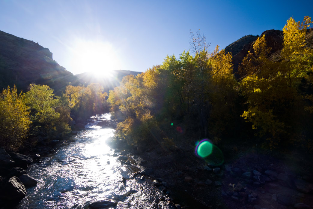 Running right through downtown Golden, Clear Creek offers tubing and whitewater paddling, as well as a lovely trail that is perfect for biking or walking.