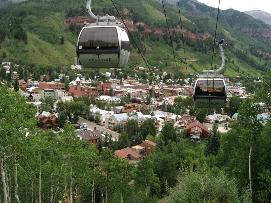 The gondola at Telluride is a memorable experience in any season.