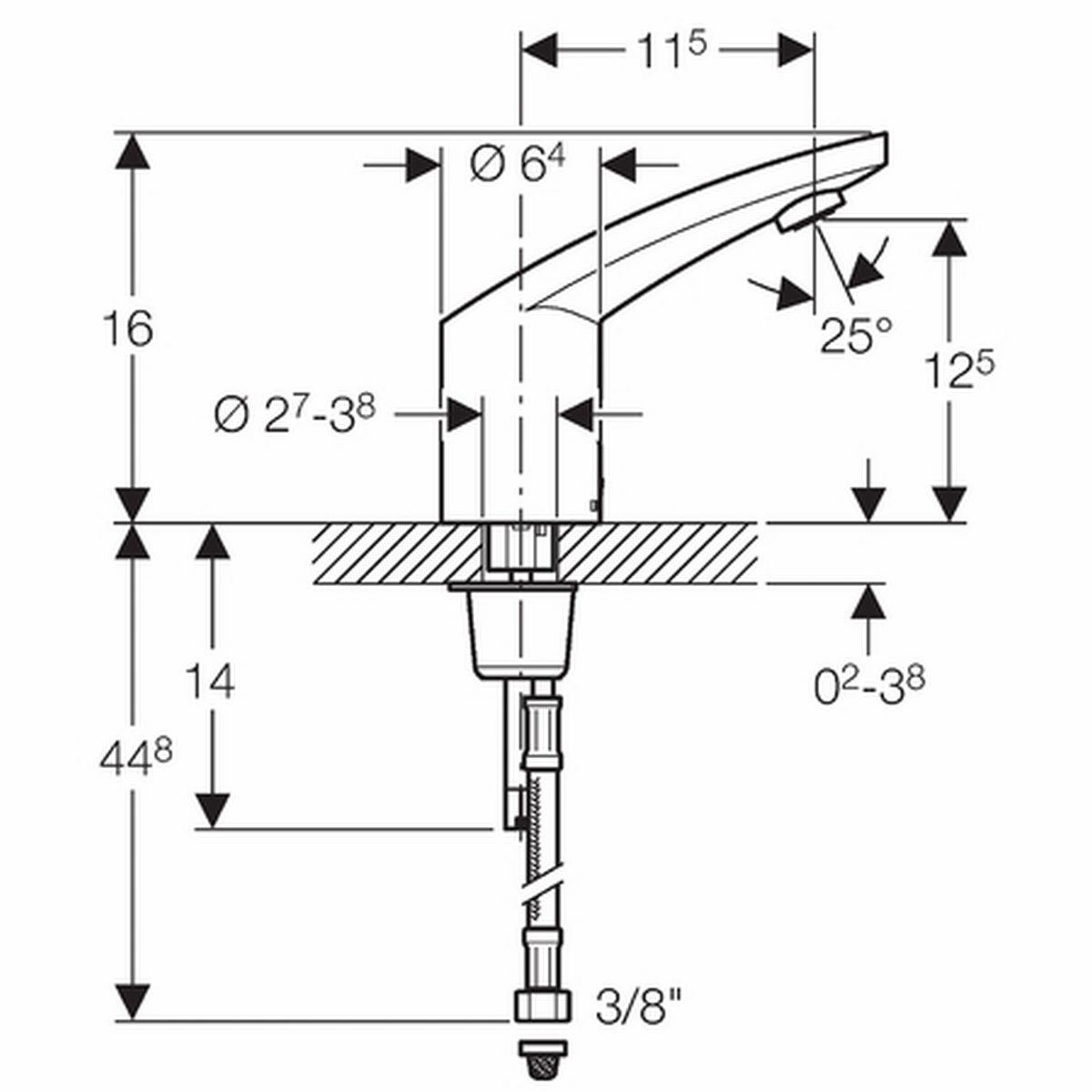 Geberit Type 185 Robinet Lavabo Electronique Pour Eau
