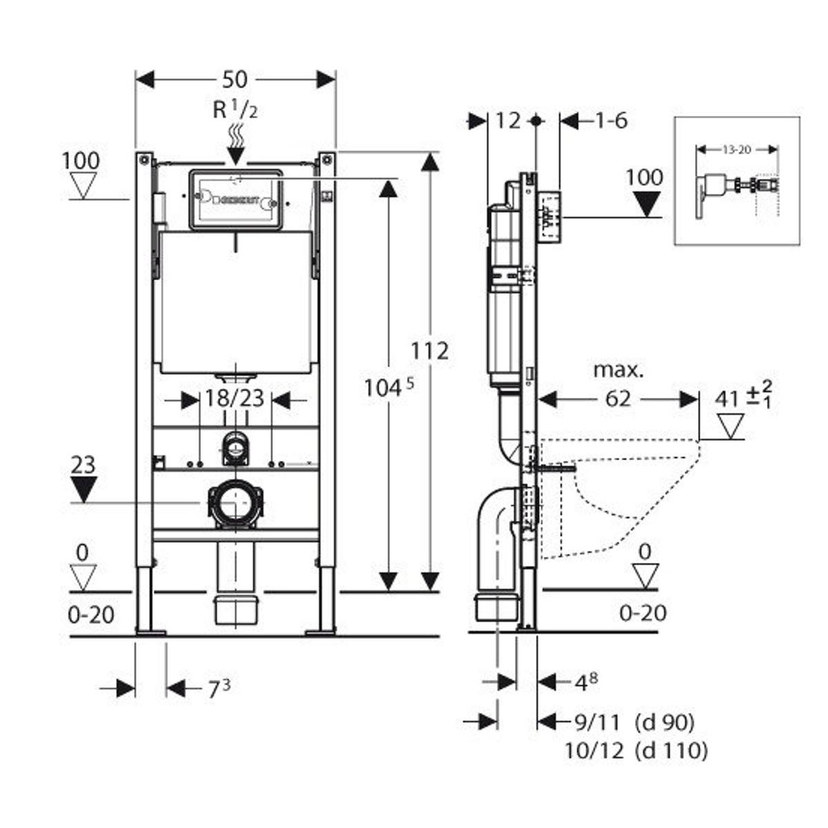 Geberit Duofix Wc Element Met Inbouwreservoir Up100 Basic