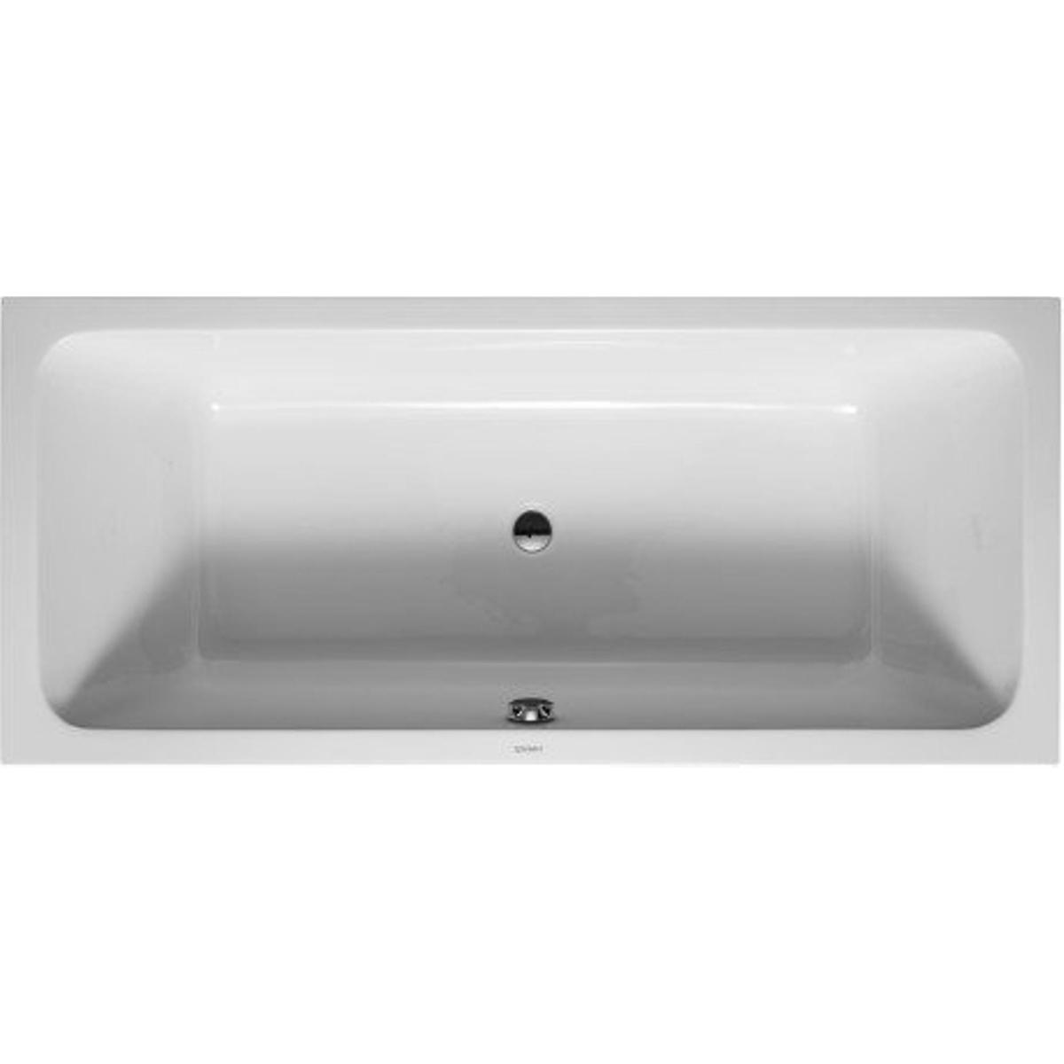 duravit d code baignoire duo rectangulaire 180x80x40cm blanc 0297516