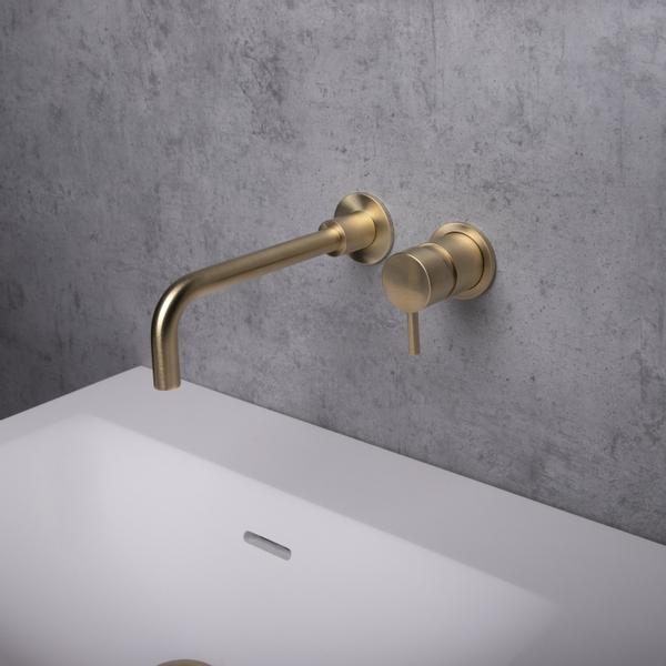 crosswater mpro robinet lavabo a encastrer 2 trous laiton brosse