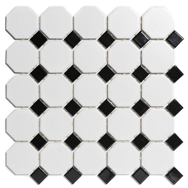 the mosaic factory paris carrelage mosaique 2 3x2 3x0 5cm carrelage mural pour interieur et exterieur ceramique blanc et noir