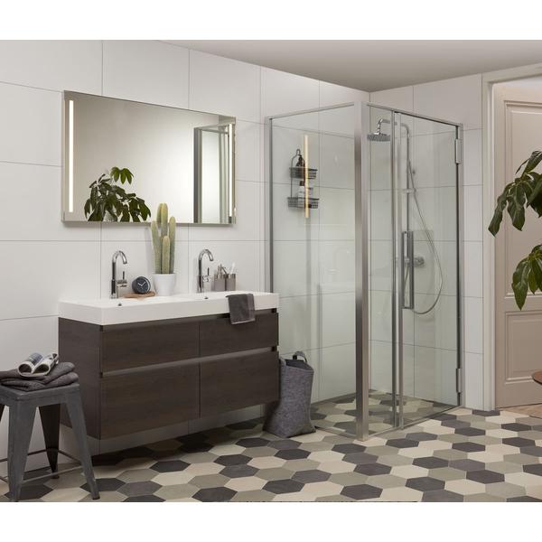Bruynzeel Pinto Meuble Avec Miroir 90cm Lavabo Avec 2 Trous Pour Robinet Bardolino 226004k Sawiday Fr