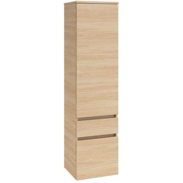 villeroy boch legato armoire colonne haute avec 1 porte et 2 tiroirs 155x40x35cm droite bois d orme