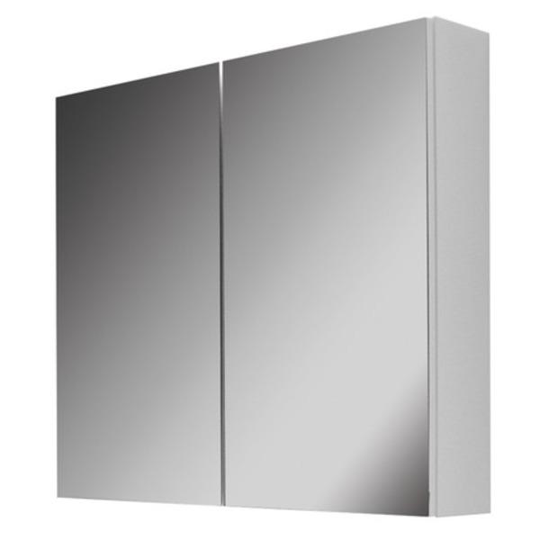 Nemo Go Roxsie Armoire De Toilette 80x15 5x73cm Avec 2 Portes Miroir Un Cote Blanc Brillant 929286 Sawiday Fr