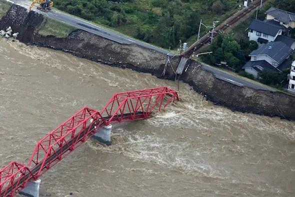 Damage from Typhoon Hagibis in Japan
