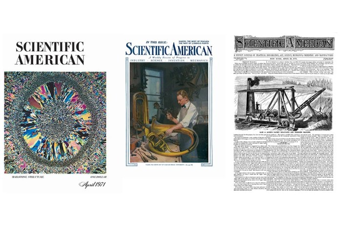 Scientific American old covers.