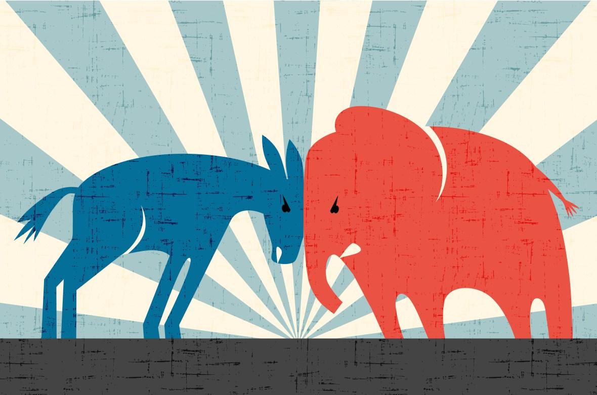 Image result for republicans versus democrats violent images