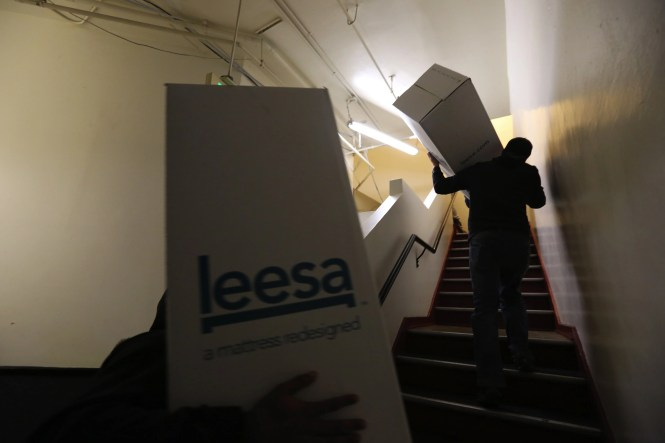 Residents Carry Mattresses Up Five Flights Of Stairs To A Dorm At Seattle S Union Gospel Mission