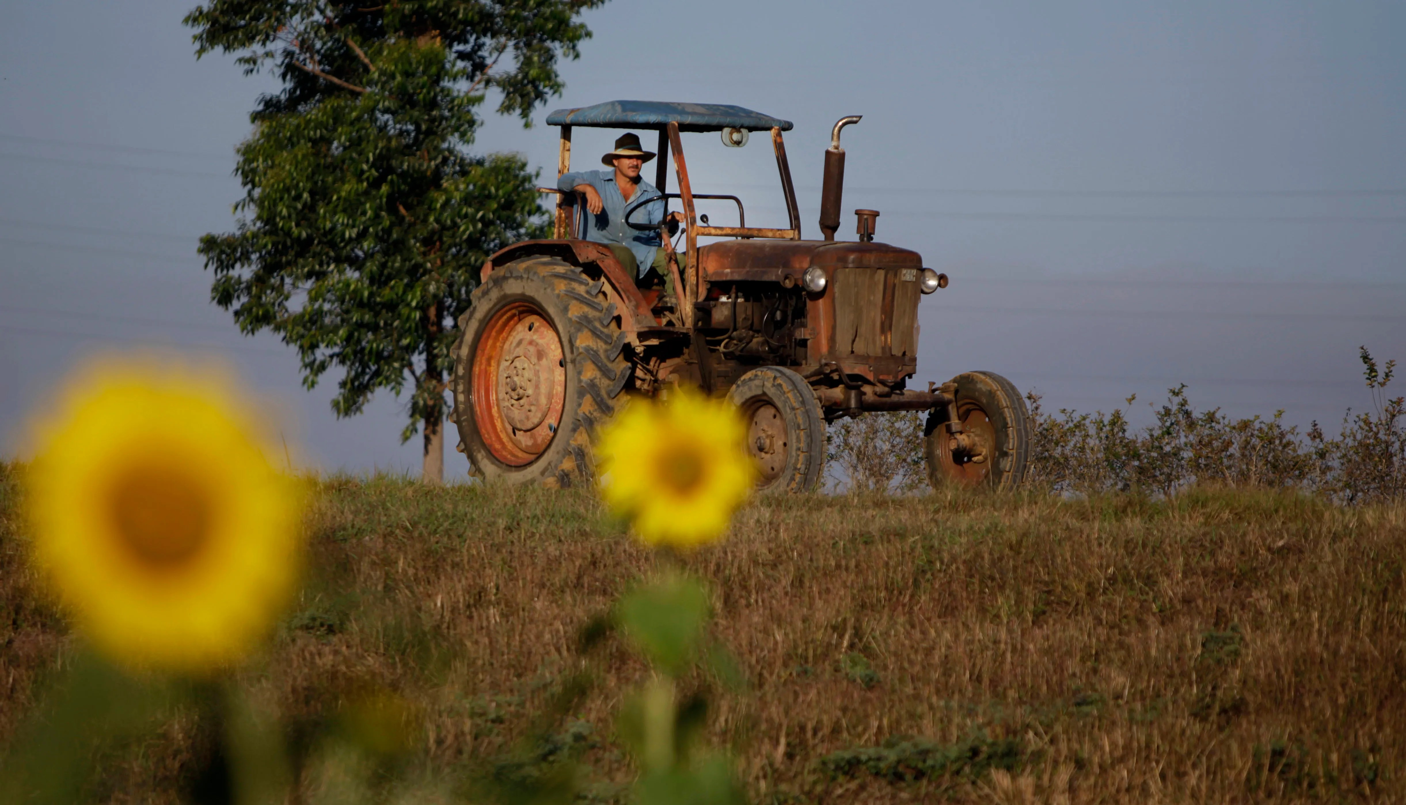 The aging equipment of Cuban farmers spurred two Americans to come up with a plan to build small tractors and other machinery in Cuba. (Javier Galeano/AP)