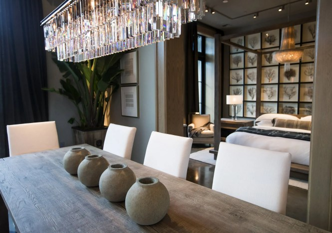 An Rh Interiors Living E And Bedroom With Their 1920 S Odeon Chandelier Bettina Hansen