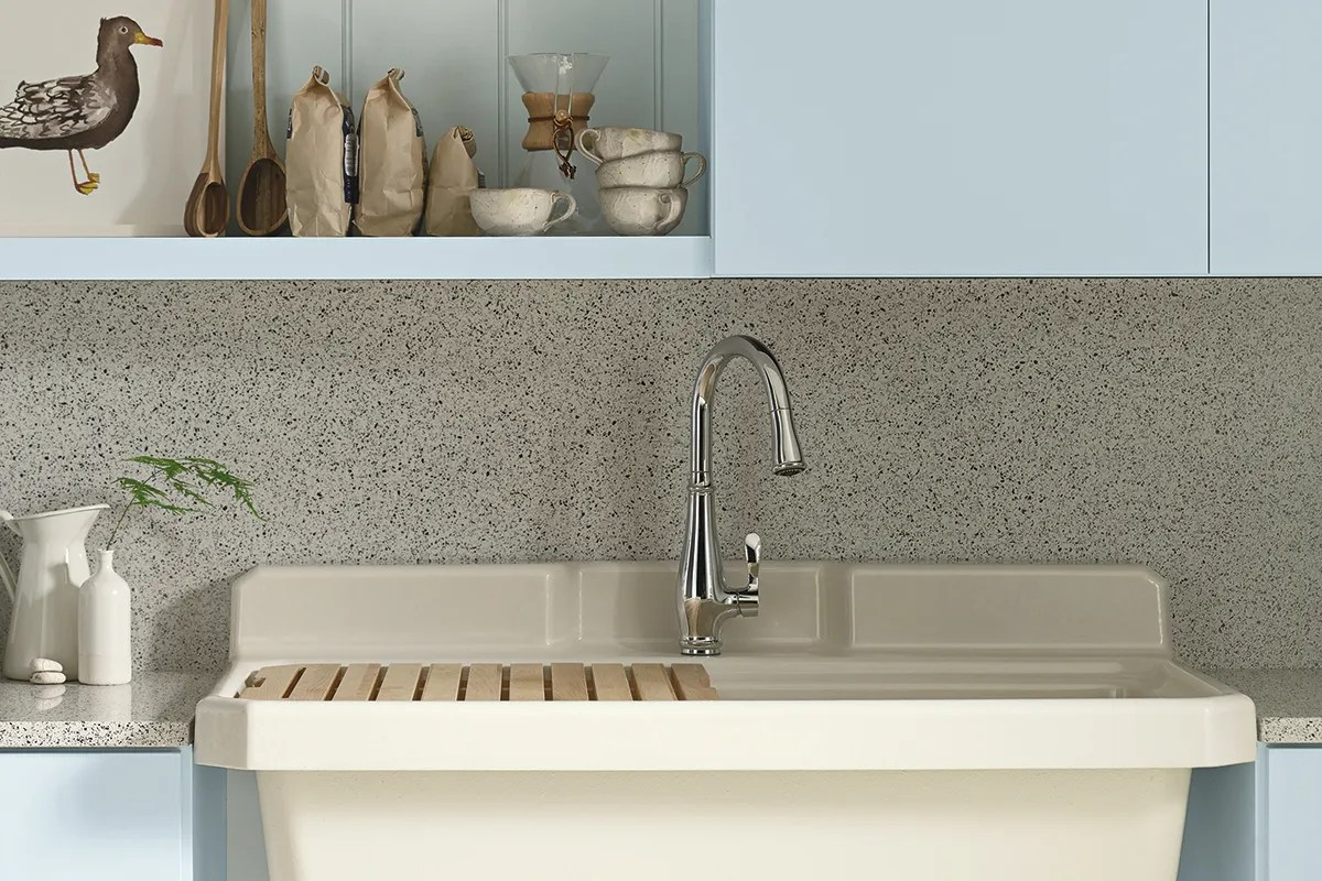 utility sink doubles your options in