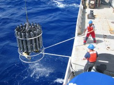 During 13 years of data collection, scientists took more than 50 cruises and collected more than 100,000 seawater samples, according to NOAA senior scientist Richard Feely.  (Nicolas Gruber / ETH Zurich)