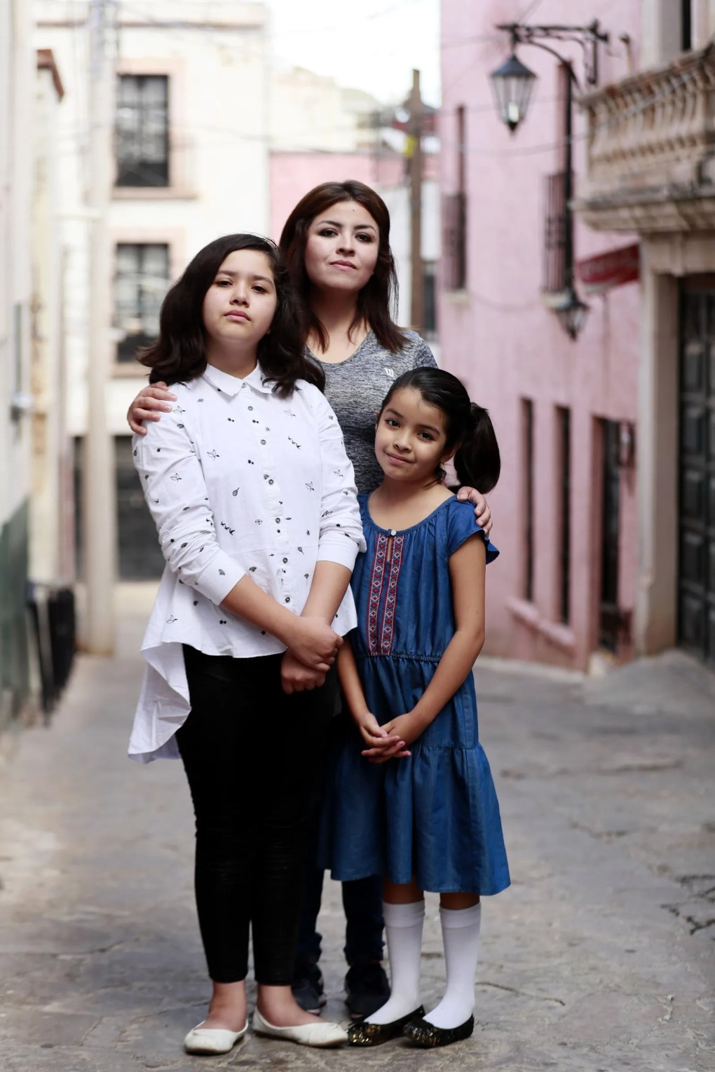 Evelyn Leyva Gómez says she found no help for her daughters Tori, 11, and Ellie, 9, as they tried to keep up in school after moving from the U.S. (Erika Schultz / The Seattle Times)