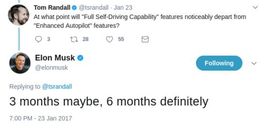 Elon Musk FSD Tweet