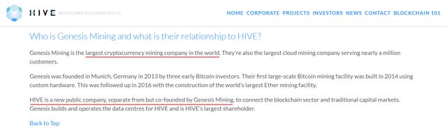 genesis hive