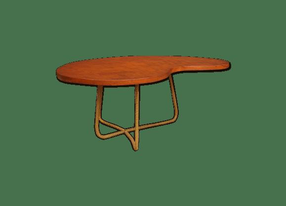 Table Basse Rognon Vintage 1950 Bois Matriau