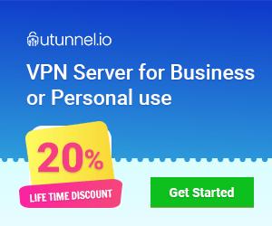 UTunnel VPN 20% Lifetime Discount Offer