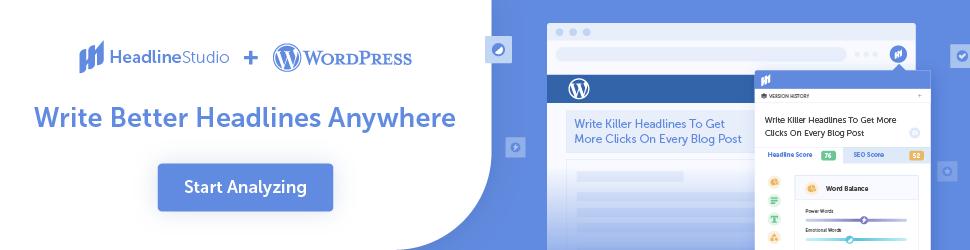 Headline Studio + WordPress = Write Better Headlines