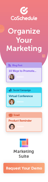 Organize your marketing with CoSchedule's Marketing Suite. Request a demo today.