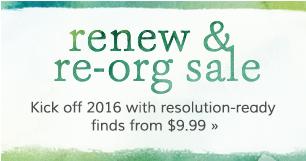 Renew & Re-org Sale