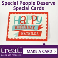Treat 25% Off All Greeting Cards
