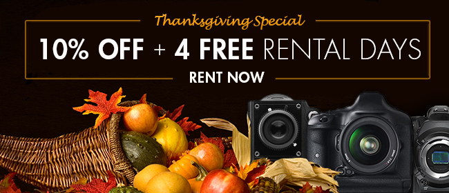 Thanksgiving Special: 10% Off + 4 FREE Rental Days
